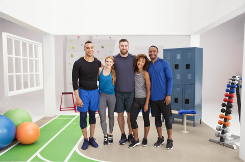 Athletes Dale Moss, Alex Silver Fagan, Travis Kelce, Traci Copeland and Bryson Keaton joined Cigna in an opioid pain plan campaign launching today. (Photo: Business Wire)