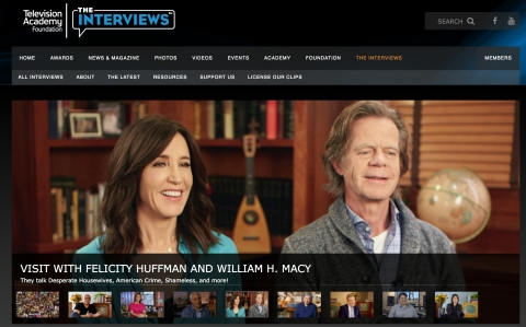 The Television Academy Foundation has launched its new website for The Interviews: An Oral History of Television, (TelevisionAcademy.com/Interviews), featuring never-before-seen interviews with many of television's most beloved stars, show creators and behind-the-scenes innovators. (Graphic: Business Wire)