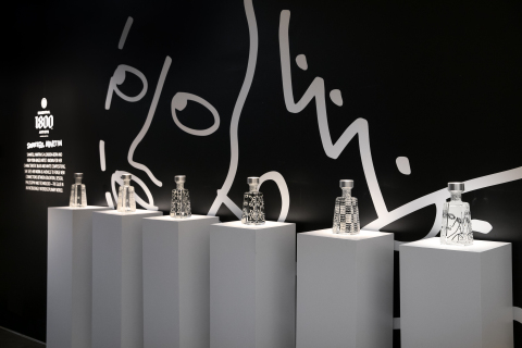 1800 Tequila launches the ninth edition of its Essential 1800 Artists Series featuring visual artist Shantell Martin and her signature black and white compositions. (Photo: Business Wire)
