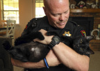 With the help of nearly 4,000 animal welfare partners, PetSmart and PetSmart Charities today announced they reached the milestone of 8 million pet adoptions since 1994. Zeus, a playful black cat and the lucky 8 millionth pet, was adopted by Heath Greenlee, a deputy sheriff for the Tarrant County Sheriff's Office in Texas, through PetSmart Charities' in-store adoption program at the Hulen PetSmart in Fort Worth. PetSmart and PetSmart Charities hope to find homes for thousands of pets in need during its National Adoption Weekend events held at nearly all PetSmart stores across North America this weekend from May 18-20. (Photo: Business Wire)