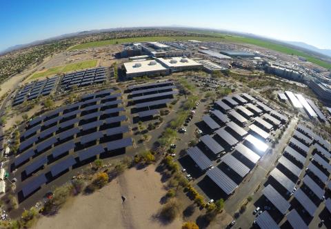 A 2017 photo shows Intel Corporation's Ocotillo, Arizona, campus, where the company has built specia ...