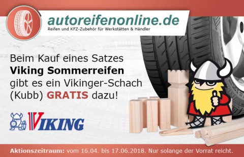 Cleverer Zug: Autoreifenonline.de und Viking verschenken Vikinger Schachspiele (Foto: Business Wire)