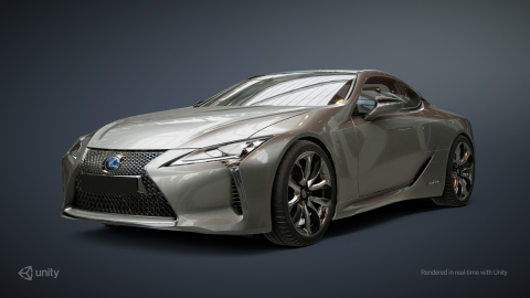 A Lexus rendered in real-time in Unity (Photo: Business Wire)