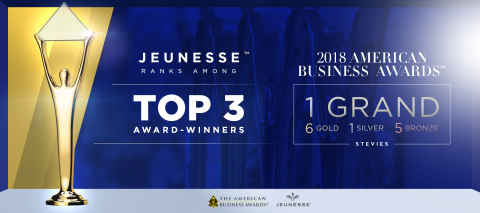 Jeunesse receives top honors in 2018 American Business Awards (Photo: Business Wire)