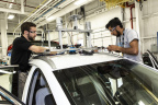 Eight university teams participated in the AutoDrive Challenge sponsored by General Motors and SAE. (Photo: Business Wire)