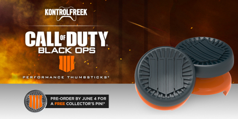 KontrolFreek® announces its partnership with Activision and Treyarch Studios on a new Performance Thumbstick® based on the Call of Duty® Black Ops 4 video game. (Graphic: Business Wire)