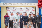Costco Manager and grateful grandparent Varsylvia James; Anthony Fontana, Vice President, Costco Wholesale New York Region and Children's Miracle Network Hospitals Board of Governors; Joe Portera, Executive Vice President and Chief Operating Officer, Costco Wholesale Eastern and Canadian divisions; Chase, grandson of Varsylvia James and former Children's National patient; Kurt Newman, MD, President and CEO, Children's National; DeAnn Marshall, President, Children's Hospital Foundation; Toni Verstandig, Chair, Children's Hospital Foundation Board; Kathy Gorman, MSN, RN, FAAN, Executive Vice President of Patient Care Services and Chief Operating Officer, Children's National; Mike Williams, Chairman of the Board, Children's National. (Photo: Business Wire)