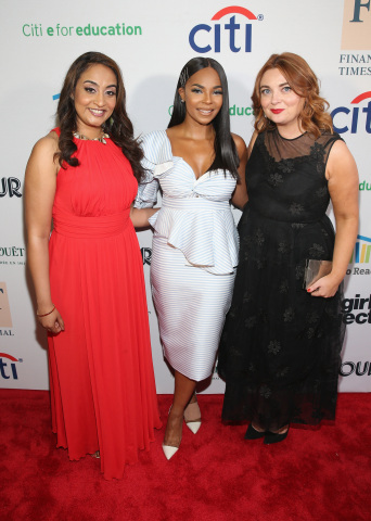 NEW YORK, NY - MAY 17: (L-R) Dr. Geetha Murali, Ashanti, Samantha Barry attend the 2018 Room to Read New York Gala on May 17, 2018 at SECOND in New York City. (Photo by Bennett Raglin/Getty Images for Room To Read)