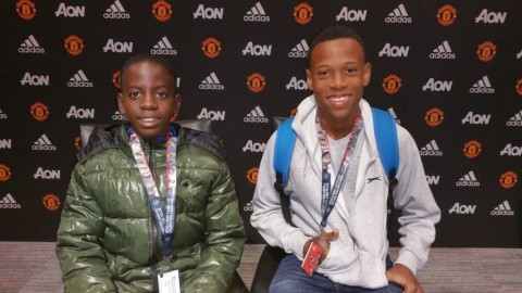 Flow Skills 2018 top two winner Brian Burkett and Nathan Skeete basking in the moment at Old Trafford, Manchester. (Photo: Business Wire)