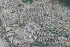 Example 3D map of Mumbai, India that will be offered in the new AW3D India dataset (view from land) (Graphic: Business Wire)