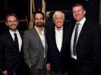 "Matt Shakman, Lin-Manuel Miranda, Dick Van Dyke and Gil Cates, Jr. at the Geffen Playhouse's 16th annual ""Backstage at the Geffen"" fundraiser on May 19, 2018. (Photo: Jordan Strauss)"
