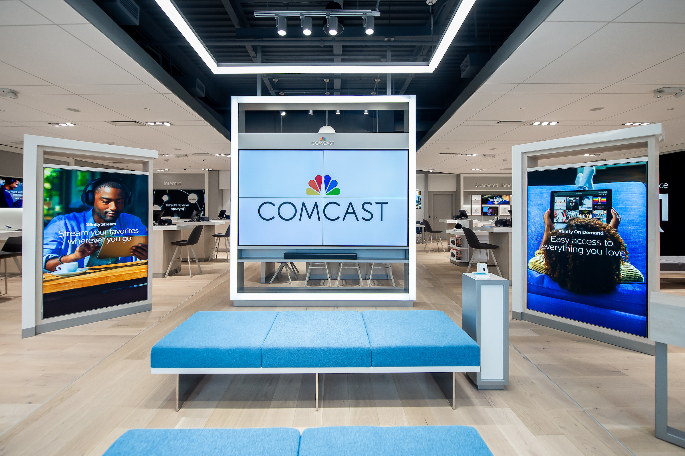 Comcast Launches New Interactive Xfinity Store Design Centered on ...