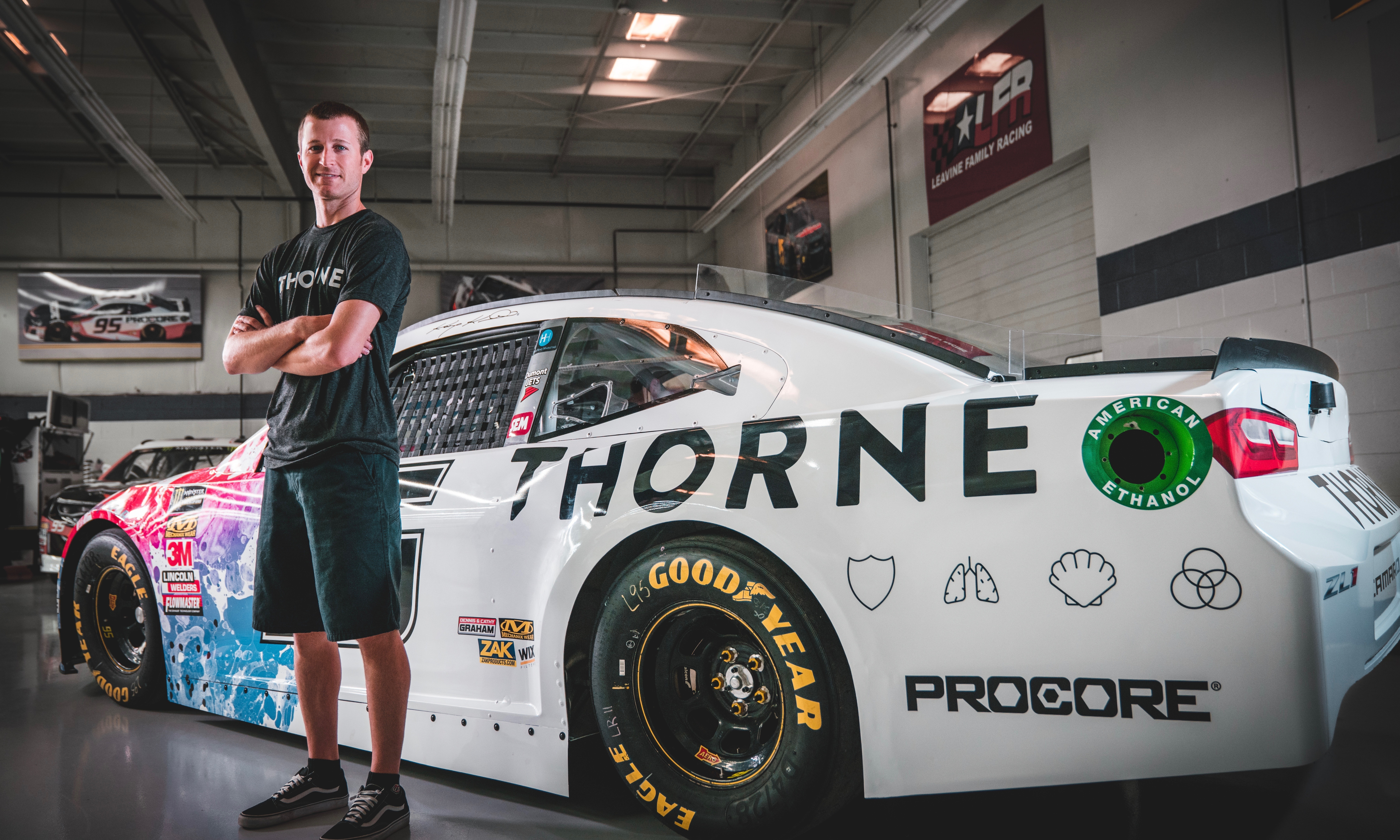 Thorne Partners With NASCAR Team Leavine Family Racing to Promote ...