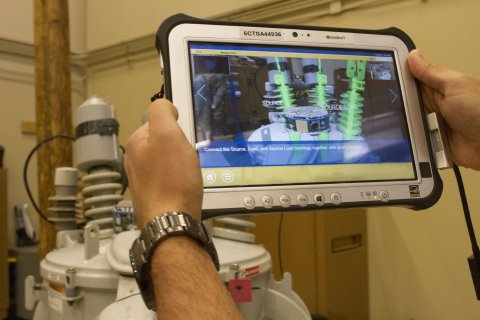 The LineAssist SuperApp™ from Index AR Solutions provides detailed step-by-step instructions through augmented reality, with imagery that is overlaid on the various utility structures that workers encounter on a service call. (Photo: Business Wire)