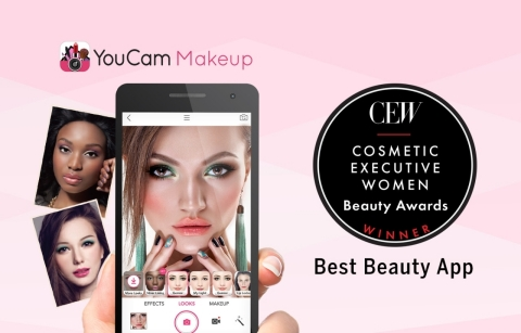 Perfect Corp.'s YouCam Makeup App Wins Distinguished CEW Best Beauty App Award (Photo: Business Wire)