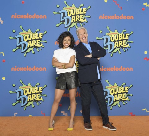 Liza Koshy and Marc Summers team up for Nickelodeon's Double Dare (Photo: Business Wire)