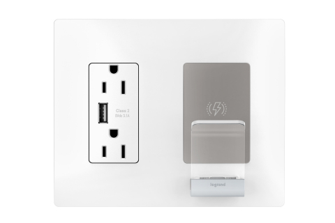 Legrand introduces the first-to-market in-wall Wireless Charger from the radiant® collection (Photo: Business Wire)