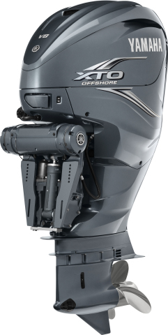 Yamaha's new V8 XTO Offshore outboard offers extreme power, thrust, toughness, reliability, system integration, control, convenience and care. (Photo: Business Wire)
