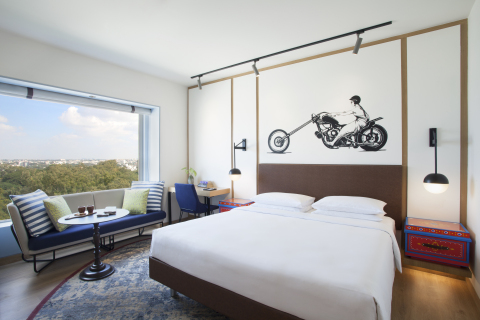 King Bed in Hyatt Centric MG Road Bangalore (Photo: Business Wire)