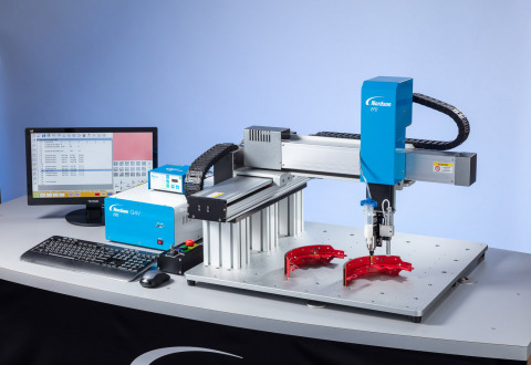 The new GV Series gantry robot from Nordson EFD is ideal for precision fluid dispensing onto substrates that require large working envelopes with market-leading deposit placement repeatability. (Photo: Business Wire)