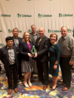 Littelfuse congratulates Mouser Electronics on winning the 2017 High Service Distributor of the Year award. Pictured (from left to right): Deepak Nayar, Littelfuse senior vice president and general manager, electronics business unit; Peter Kim, Littelfuse vice president of global sales; Emily Parchman, Mouser Electronics supplier marketing manager; Dave Heinzmann, Littelfuse president and chief executive officer; Andy Kerr, Mouser Electronics vice president of passives; Dawn Manhart, Littelfuse director of channel sales; Thane Parker, Littelfuse director of OEM sales. (Photo: Business Wire)