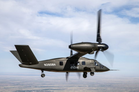 The Bell V-280 Valor, shown here in its maiden cruise mode flight, will be among the solutions highlighted at the new Advanced Vertical Lift Center. (Photo: Business Wire)