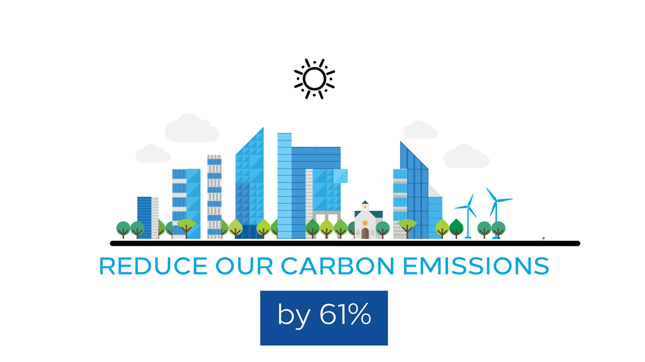Hilton is reducing carbon emissions intensity by 61%