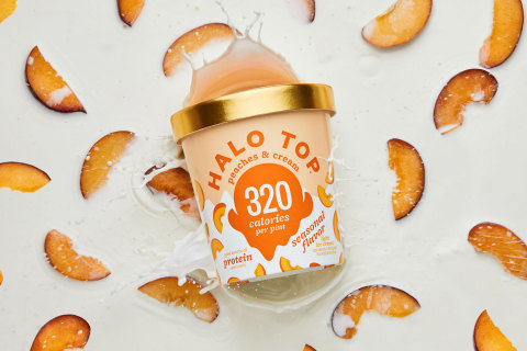 Halo Top Creamery Celebrates Summer with a Brand-New Seasonal Flavor - Peaches & Cream. (Photo: Business Wire)