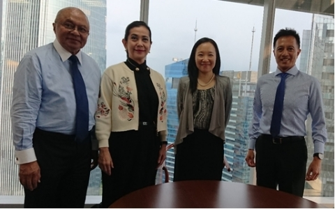 Left to right: Jos Luhukay, President Director, Rabobank Indonesia; Mia Patria, Director of Human Resources, Rabobank Indonesia; Kitty Chan, Senior Director, Moody's Analytics; and Gil Madrid, Director, Moody's Analytics (Photo: Business Wire)