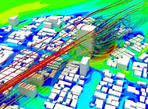 L'analyse du confort climatique des piétons avec SimScale (Graphic: SimScale)