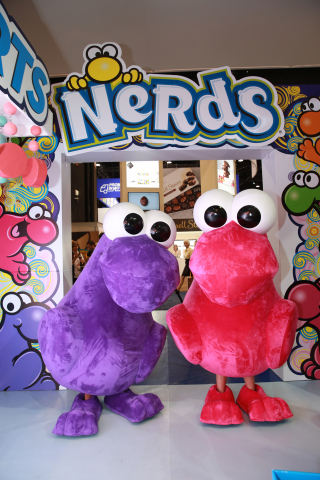 NERDS characters at the NERDS booth at Sweets & Snacks Expo 2018 (Photo: Business Wire)