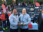 Dr. Andy Khawaja with Prince Albert II at World Stars Football Match 2018 (Photo: Business Wire)