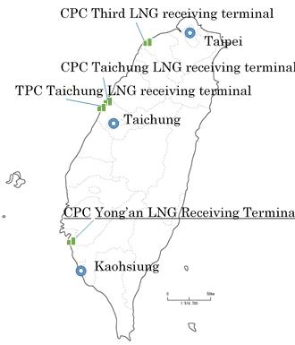 台湾国内のLNG受入基地 (画像:ビジネスワイヤ)