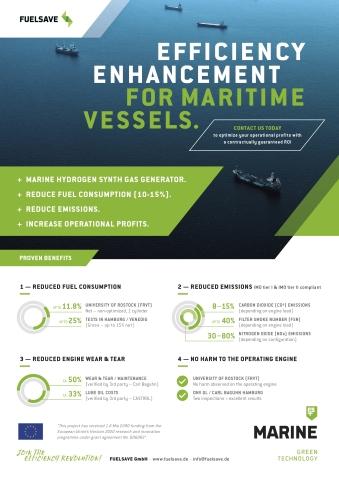 FS MARINE+, modernste Effizienzsteigerung für Schiffe (Photo: Business Wire)