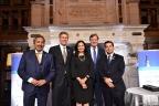 CLSA's 2018 Visionary Awards Recipient: L-R: Congressman Ami Bera, M.D. (D-CA-7); Congressman Erik Paulsen (R-MN-3); Sara Radcliffe, CLSA President & CEO; William J. Newell, Sutro Biopharma CEO & CLSA Board Chair; and Congressman Raul Ruiz, M.D. (D-CA-36) (Photo: Business Wire)