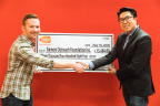 Zach from Gamers Outreach and Denny from BANDAI NAMCO (Photo: Business Wire)
