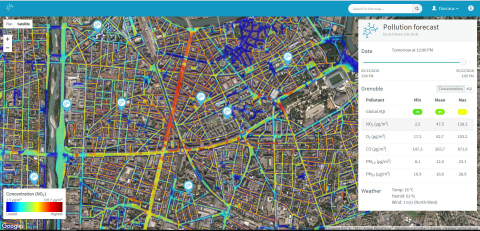 eLichens has developed a complete platform for smart city applications, based on its dense network of air quality stations and cloud models to measure and predict air quality at a very high precision.  https://www.elichens.com/smart-city