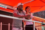 "Comedian and actor Kevin Hart and TV/radio personality Maria Menounos were in New York City today hosting the kick off of ""Rally on the Road,"" Rally Health's multi-city summer tour celebrating healthy living. (Photo: Business Wire)"