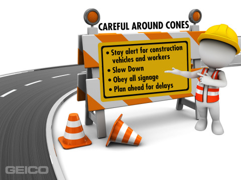 Drivers should keep these tips in mind when they approach a work zone. (Graphic: Business Wire)