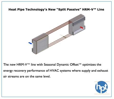 "Heat Pipe Technology Announces Launch of a New ""Split Passive"" HRM-V™ Line (Photo: Business Wire)"