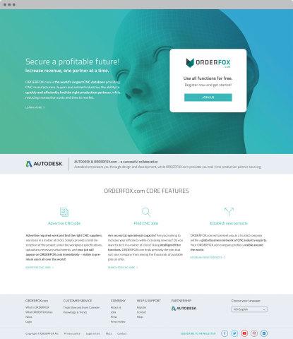 ORDERFOX.com landing page (Foto: ORDERFOX.com)