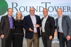 From left to right - Pat Gelsinger, CEO VMware; Jenni Flinders, VP, Worldwide Channels, VMware; Keith Odom, EVP, Systems Engineering & Services, RoundTower; Frank Rauch, VP Americas Partner Organization, VMWare; and Brett Shirk, Senior VP & General Manager, Americas (Photo: Business Wire)