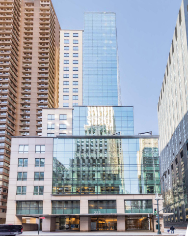 Columbia Property Trust has completed the sale of Manhattan office tower 222 East 41st Street, which is fully leased to NYU Langone for 30 years, to Commerz Real for $332.5 million. (Photo: Frank Zimmerman)