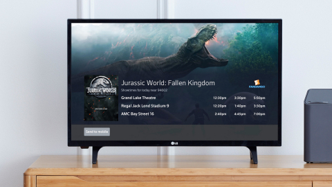 Comcast and Fandango launch voice-activated movie ticketing experience on the television. (Photo: Business Wire)