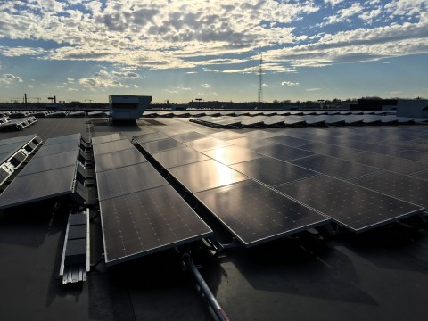 The Home Depot's 554 kW solar array consists of more than 1,400 photovoltaic panels. (Photo: Business Wire)