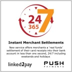 Instant merchant settlements are available around the clock and even on holidays. (Graphic: Business Wire)