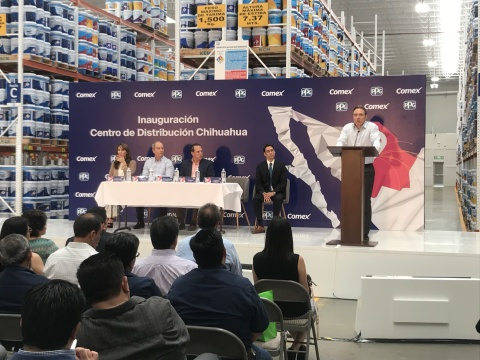 PPG COMEX completes a $1.8 million investment in a Chihuahua, Mexico, distribution center to serve more than 125 stores in the region. (Photo: Business Wire)