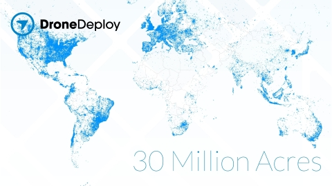DroneDeploy Becomes Largest Drone Data Platform in the World with 30 Million Acres Mapped (Graphic: Business Wire)
