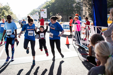 Crossing the finish line of the Race for Every Child helps Children's National provide world-class care for every child in need, regardless of ability to pay. (Photo: Business Wire)