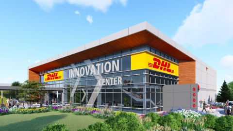 DHL's Americas Innovation Center marks the third for the DPDHL Group, expanding the Group's global innovation footprint in the region. The state-of-the-art facility is set to open its doors summer 2019, housing DHL's logistic innovations and robotics and offering customers and partners a peek into the future of logistics. (Photo: Business Wire)